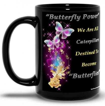 Butterfly Power Mug-Black-15oz-Left